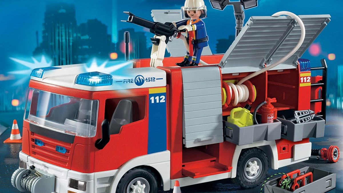 Fourgon d'intervention de pompiers Playmobil 4821