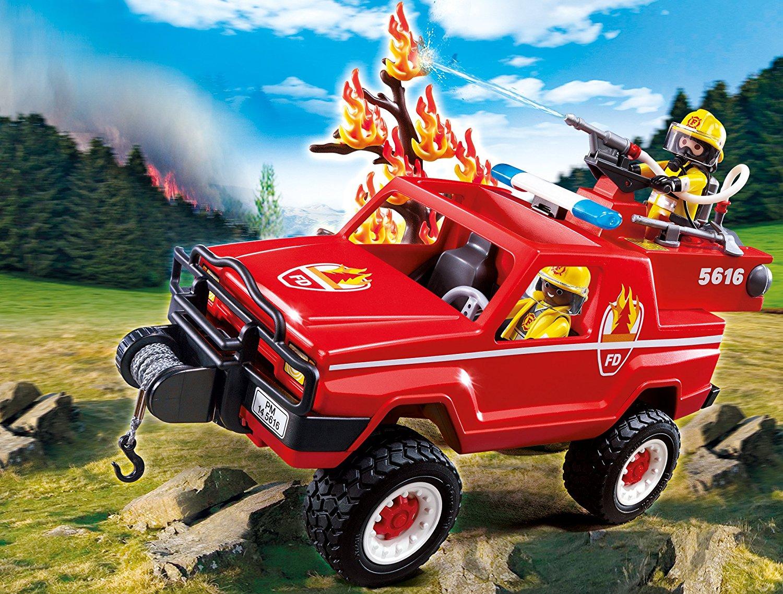 4x4 de pompiers d'intervention avec lance à eau Playmobil 5616