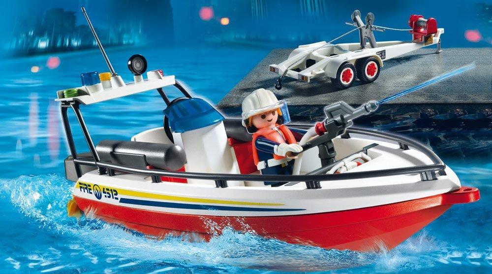 Bateau de pompier avec remorque 4823 Playmobil
