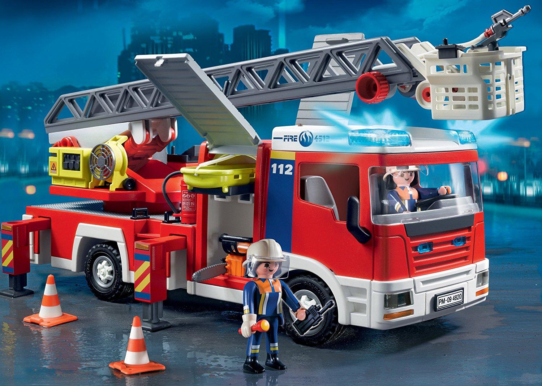 Camion de pompier avec grande échelle Playmobil 4820