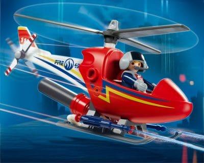 Hélicoptère de pompier Playmobil 4824