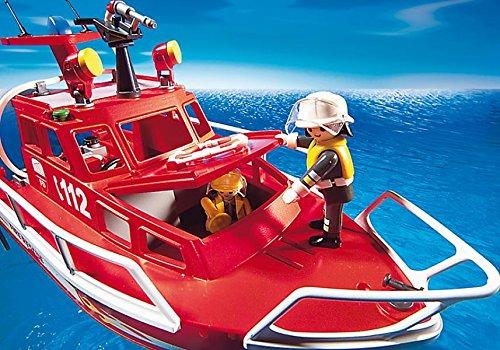Bateau de pompier avec sauveteurs Playmobil 3128