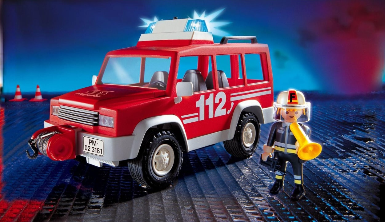 Voiture 3181 Pompier Avec Playmobil D'intervention 43AR5Lj