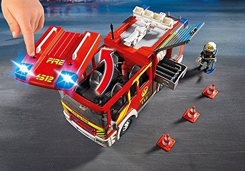 Fourgon de pompier avec sirène et gyrophare Playmobil 5363 City Action