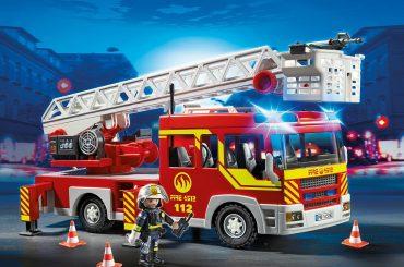 Camion de pompiers avec échelle pivotante et sirène Playmobil 5362 City Action