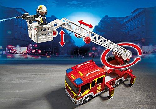 Camion de pompiers avec échelle pivotante et sirène Playmobil 5362