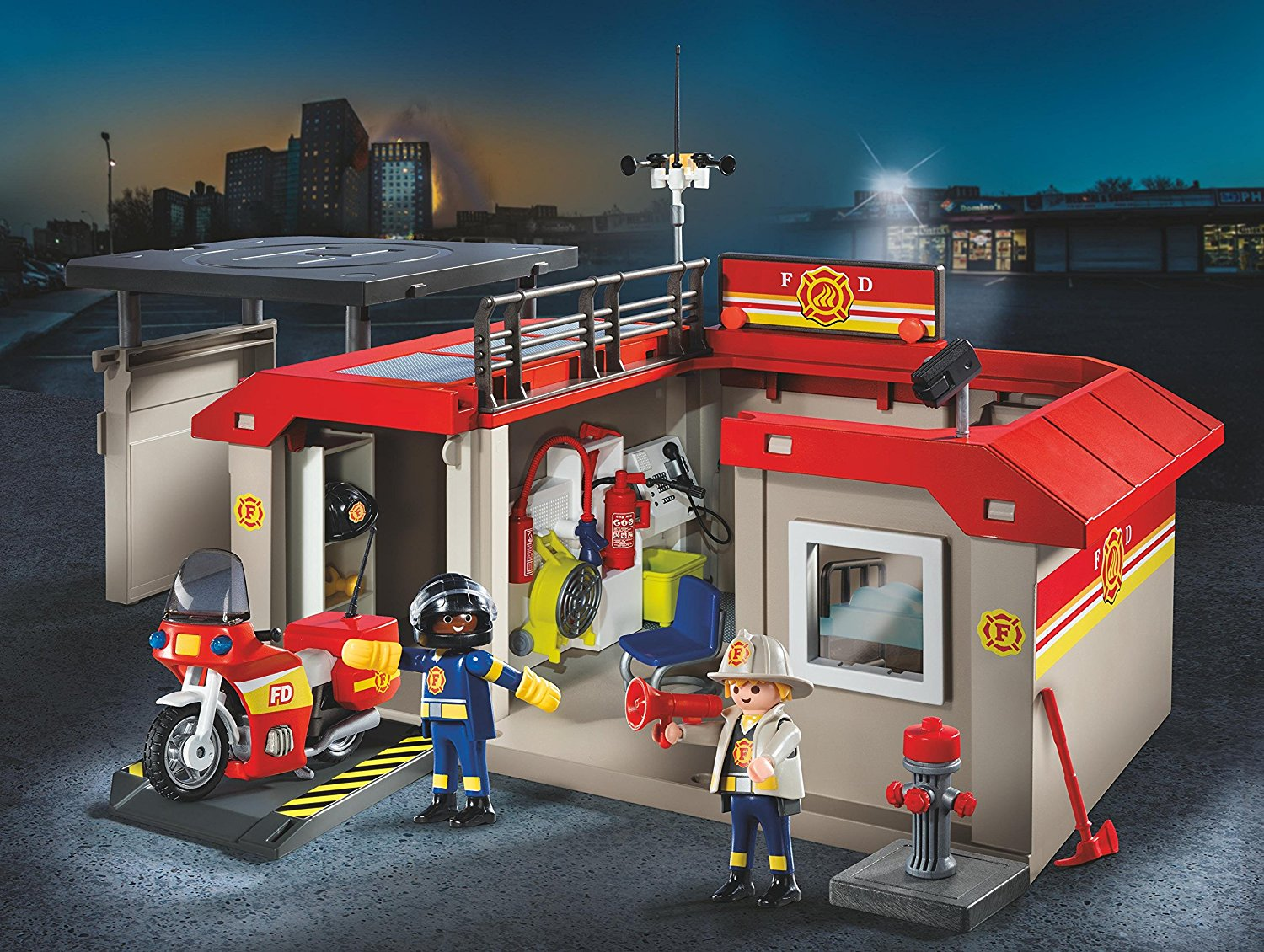 Caserne de pompiers transportable Playmobil 5663 City Action