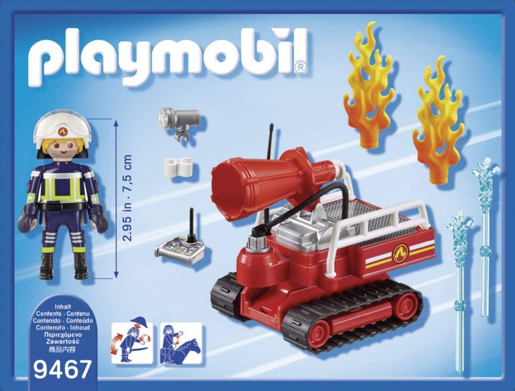 Pompier avec robot d'intervention Playmobil 9467