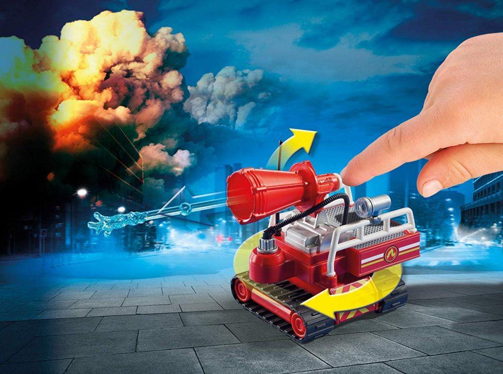 Playmobil - Pompier avec robot d'intervention - 9467