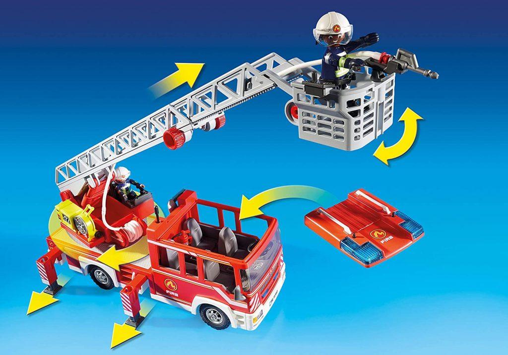 Camion de pompiers avec échelle pivotante Playmobil 9463