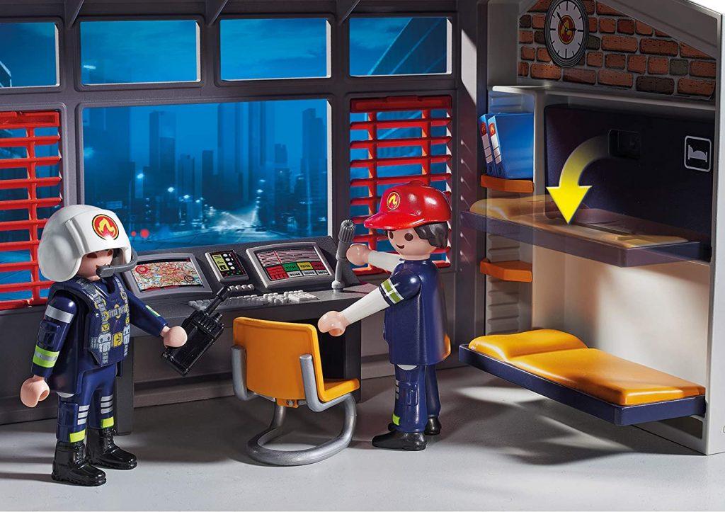 Caserne de pompiers avec hélicoptère Playmobil 9462