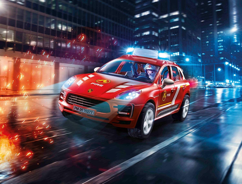 Porsche Macan S et pompier Playmobil 70277