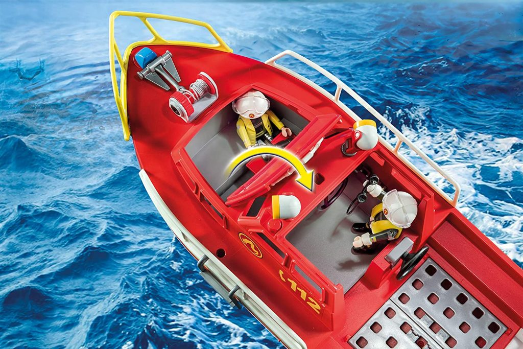 Bateau de sauvetage et pompiers Playmobil 70147