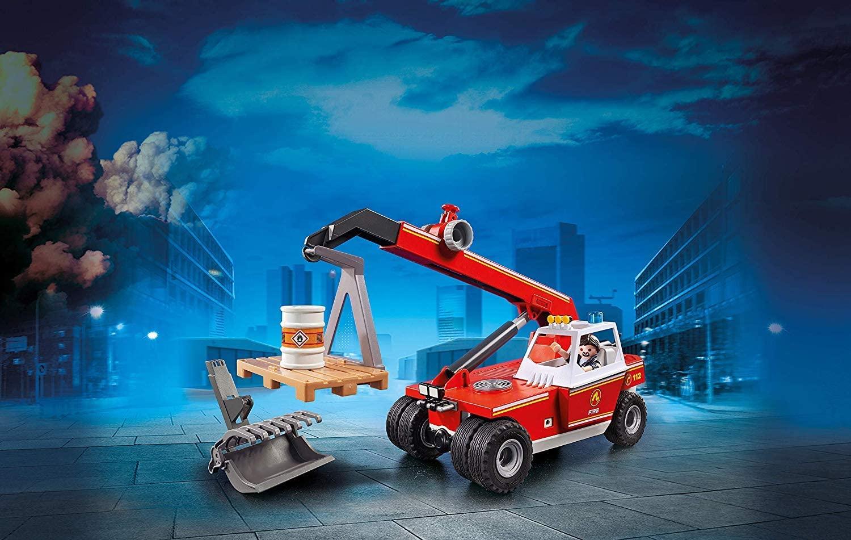 Pompier avec véhicule et bras télescopique Playmobil 9465